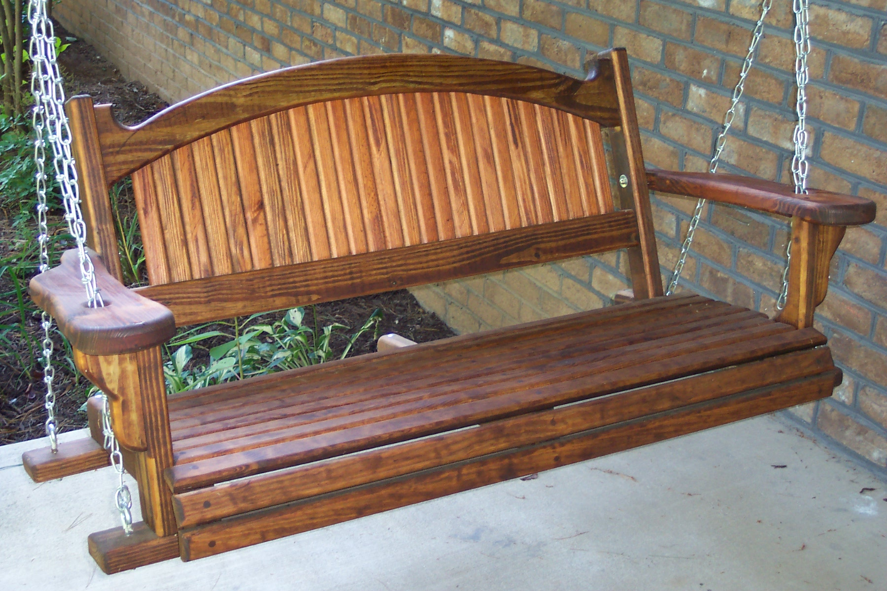 Furniture: Gorgeous Porch Swings For Terrace Ideas — Jones For Hardwood Hanging Porch Swings With Stand (View 24 of 25)