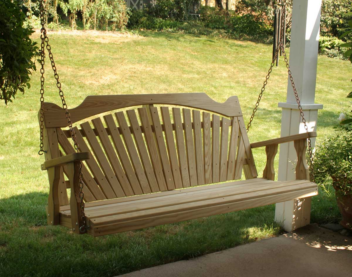 Furniture: Gorgeous Porch Swings For Terrace Ideas — Jones Intended For Hardwood Hanging Porch Swings With Stand (View 16 of 25)