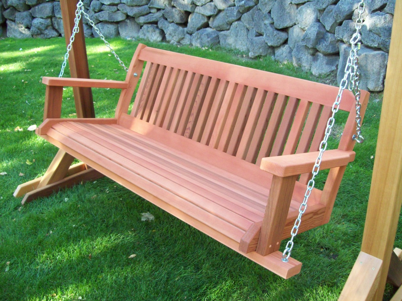 Furniture: Gorgeous Porch Swings For Terrace Ideas — Jones With Hardwood Hanging Porch Swings With Stand (View 14 of 25)