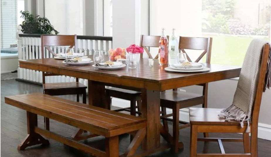Furniture Kitchen Delightful Rustic Farm Style Table Pertaining To Small Rustic Look Dining Tables (Image 11 of 25)