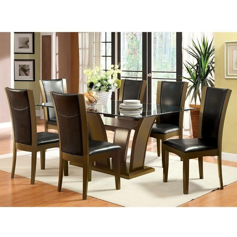 Furniture Of America Bind Traditional Cherry 72 Inch Dining Table With Regard To Rectangular Glasstop Dining Tables (Image 10 of 25)