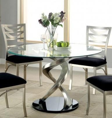 Furniture Of America Cm3729Ttable Regarding Round Dining Tables With Glass Top (View 24 of 25)