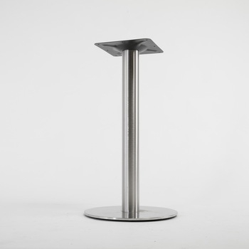 "Furniture Ss201 28"" Round Polished Stainless Steel Standard Height Dining Table Base – Buy Stainless Steel Table Base,stainless Steel Pedestal Table With Long Dining Tables With Polished Black Stainless Steel Base (View 11 of 25)"