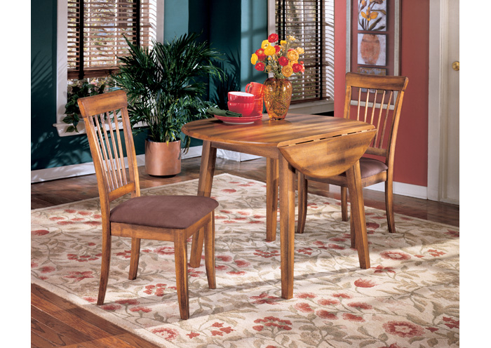 Furniture Weekend Plus Berringer Round Drop Leaf Table & 4 Within Transitional Drop Leaf Casual Dining Tables (View 12 of 26)