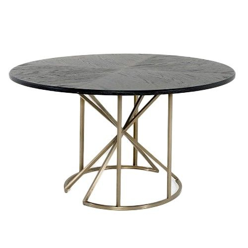 Gabby Bennie Dining Table In 2019 | Round Dining Table With Regard To Dining Tables With Brushed Gold Stainless Finish (Image 18 of 25)