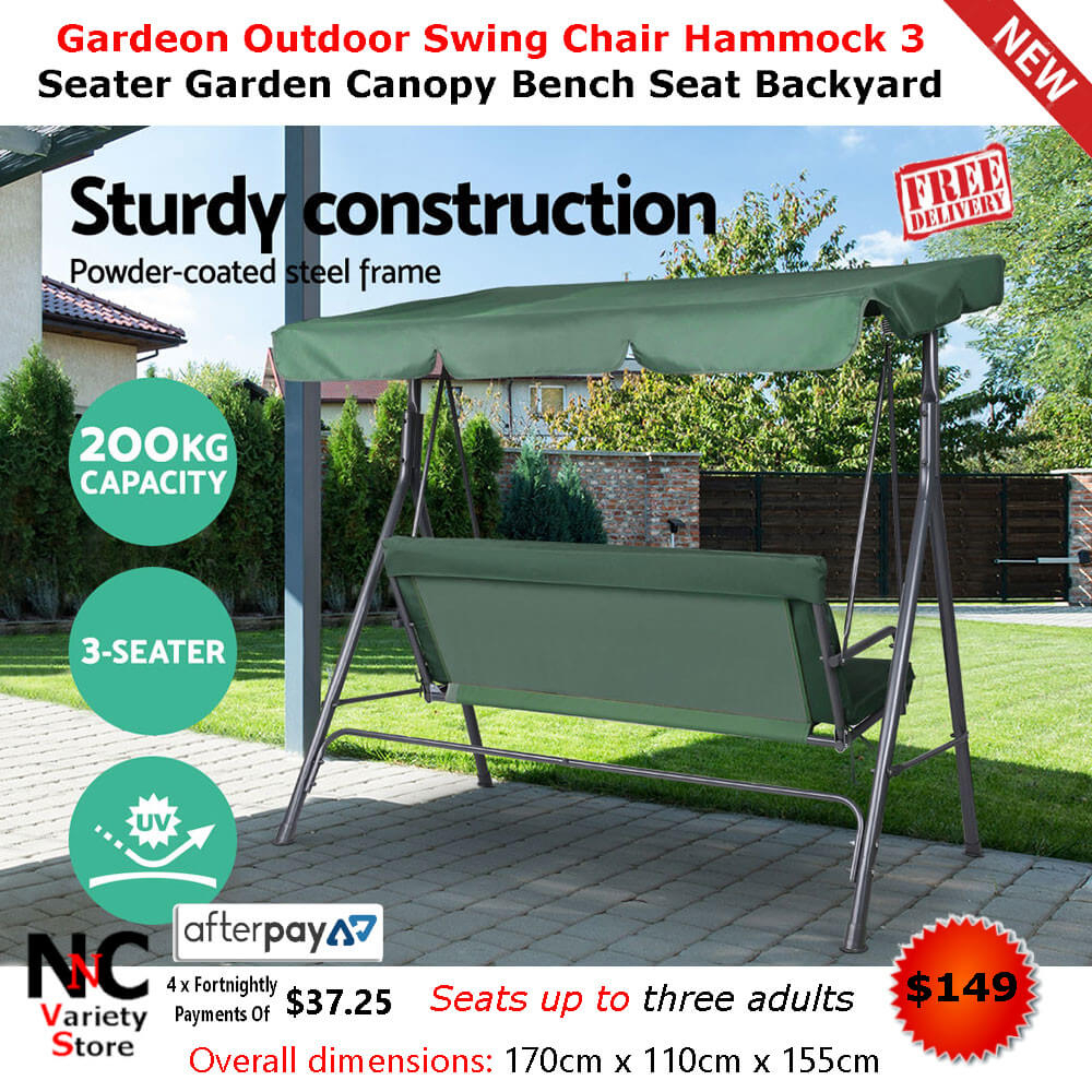 Garden Furniture Hammock Garden Hammock Swing Chair Backyard With 3 Seater Swings With Frame And Canopy (Image 7 of 25)