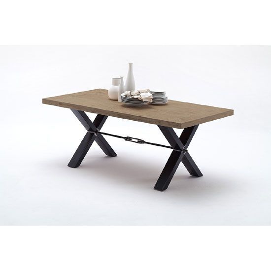 Gavi Acacia Grey Wooden Dining Table With Metal Legs In 2019 Intended For Acacia Wood Dining Tables With Sheet Metal Base (Image 6 of 25)