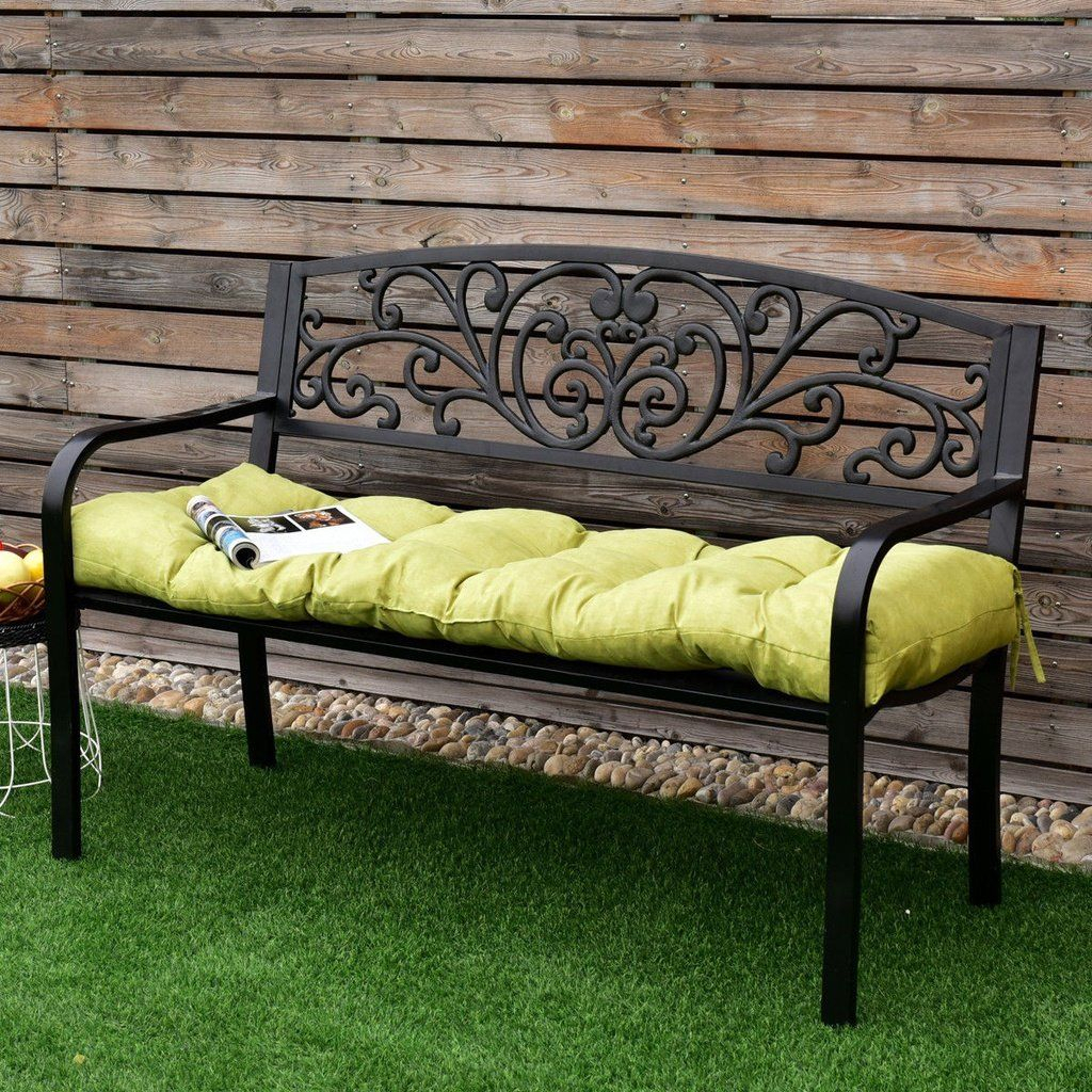Giantex 51 Inch Bench Cushion Tufted Pillow Indoor Outdoor Pertaining To Glider Benches With Cushion (Image 16 of 25)