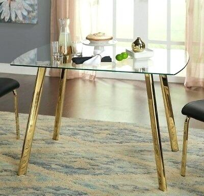 Glass And Gold Dining Table – Digitalkey (View 2 of 26)