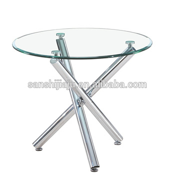 Glass Dining Table With Cross Chrome Table Leg For Dining Room Home Furniture – Buy Tempered Glass Dining Table,dining Table Cross Leg,glass Top Round With Regard To Glass Dining Tables With Metal Legs (View 10 of 25)