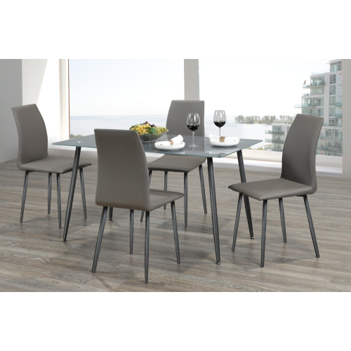 Glass Dining Table With Metal Legs Inside Glass Dining Tables With Metal Legs (View 18 of 25)
