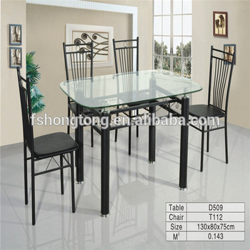 Glass Metal Dining Table/steel Frame Leg And Glass Top Table /beauty Kitchen Table Chairs – Buy Expandable Glass Dining Table,glass Top Metal Base Intended For Glass Dining Tables With Metal Legs (View 5 of 25)