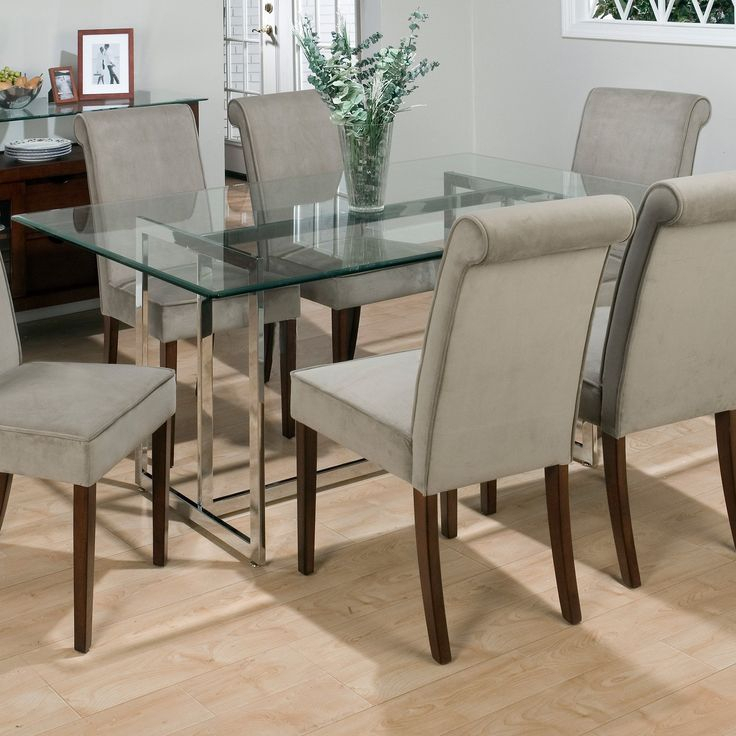 Glass Top Dining Room Tables Modern Marvellous Rectangular Pertaining To Rectangular Glasstop Dining Tables (View 6 of 25)