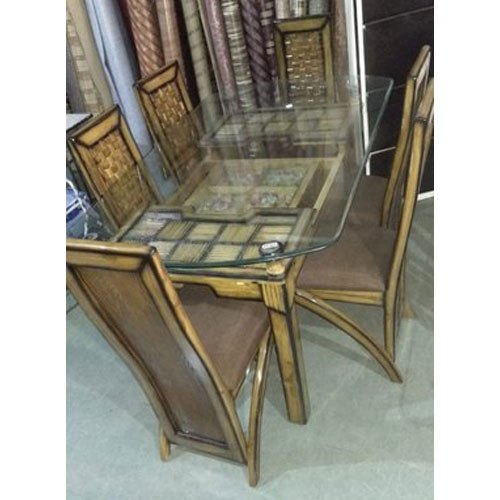 Glass Top Wooden Dining Table Set In Rectangular Glasstop Dining Tables (Image 13 of 25)