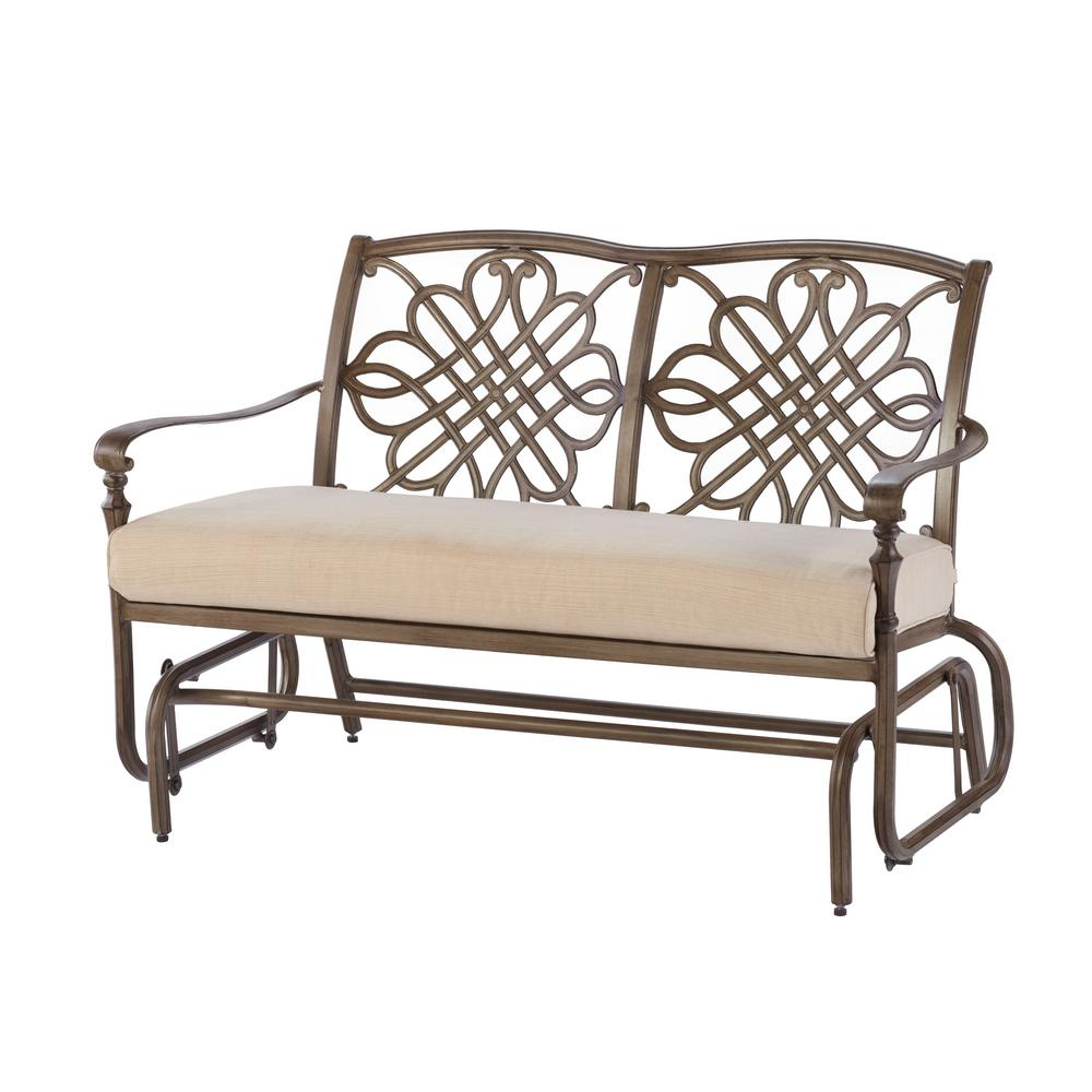 Gliding – Patio Chairs – Patio Furniture – The Home Depot With Iron Double Patio Glider Benches (Image 11 of 25)