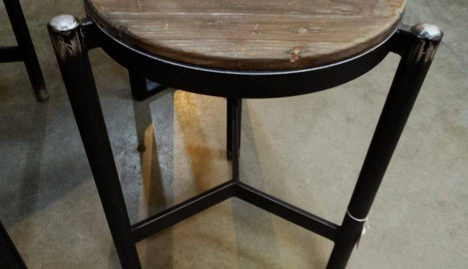 Gorgeous Black Metal And Wood Dining Table Furniture Room Regarding Frosted Glass Modern Dining Tables With Grey Finish Metal Tapered Legs (View 9 of 25)