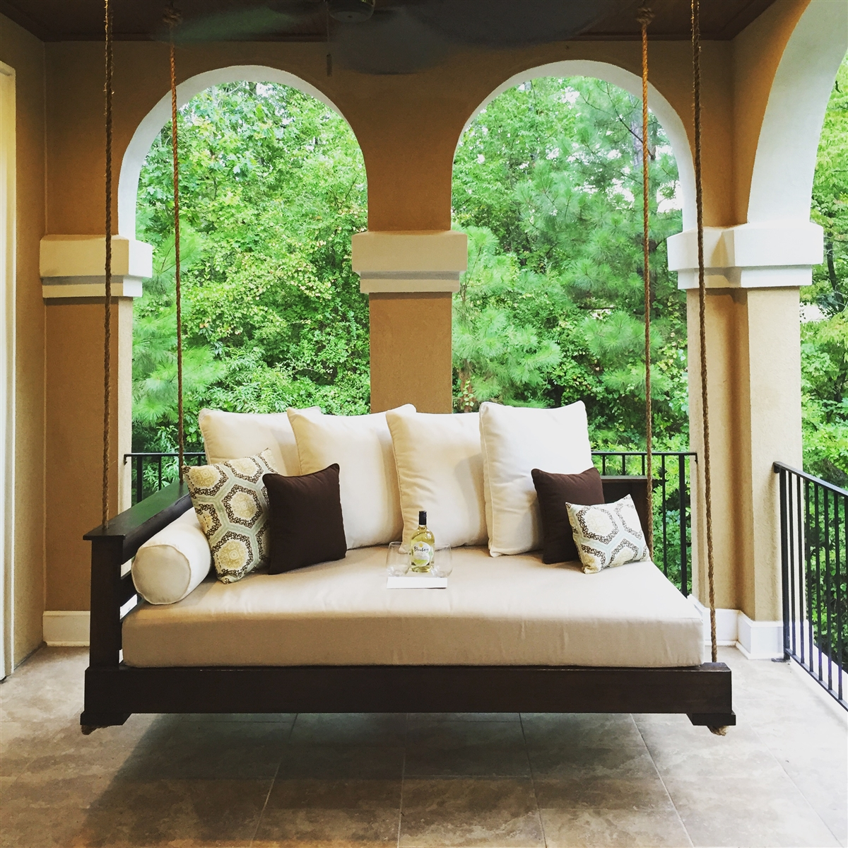 Great And Fun Ideas Porch Swing Bed For Country Style Hanging Daybed Swings (View 13 of 25)