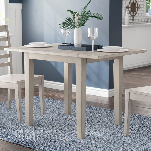 Grey Drop Leaf Table | Wayfair With Transitional 4 Seating Drop Leaf Casual Dining Tables (Image 14 of 25)