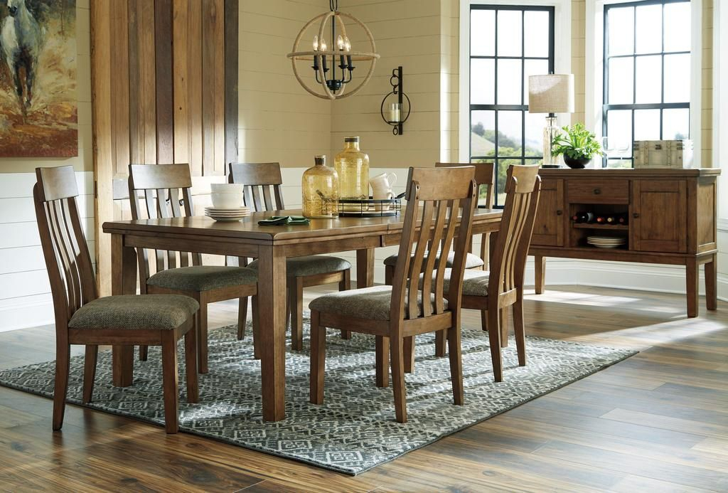 Haddigan Dining Set In 2019 | Dining Room Sets, Side Chairs Inside Transitional Antique Walnut Square Casual Dining Tables (View 5 of 25)