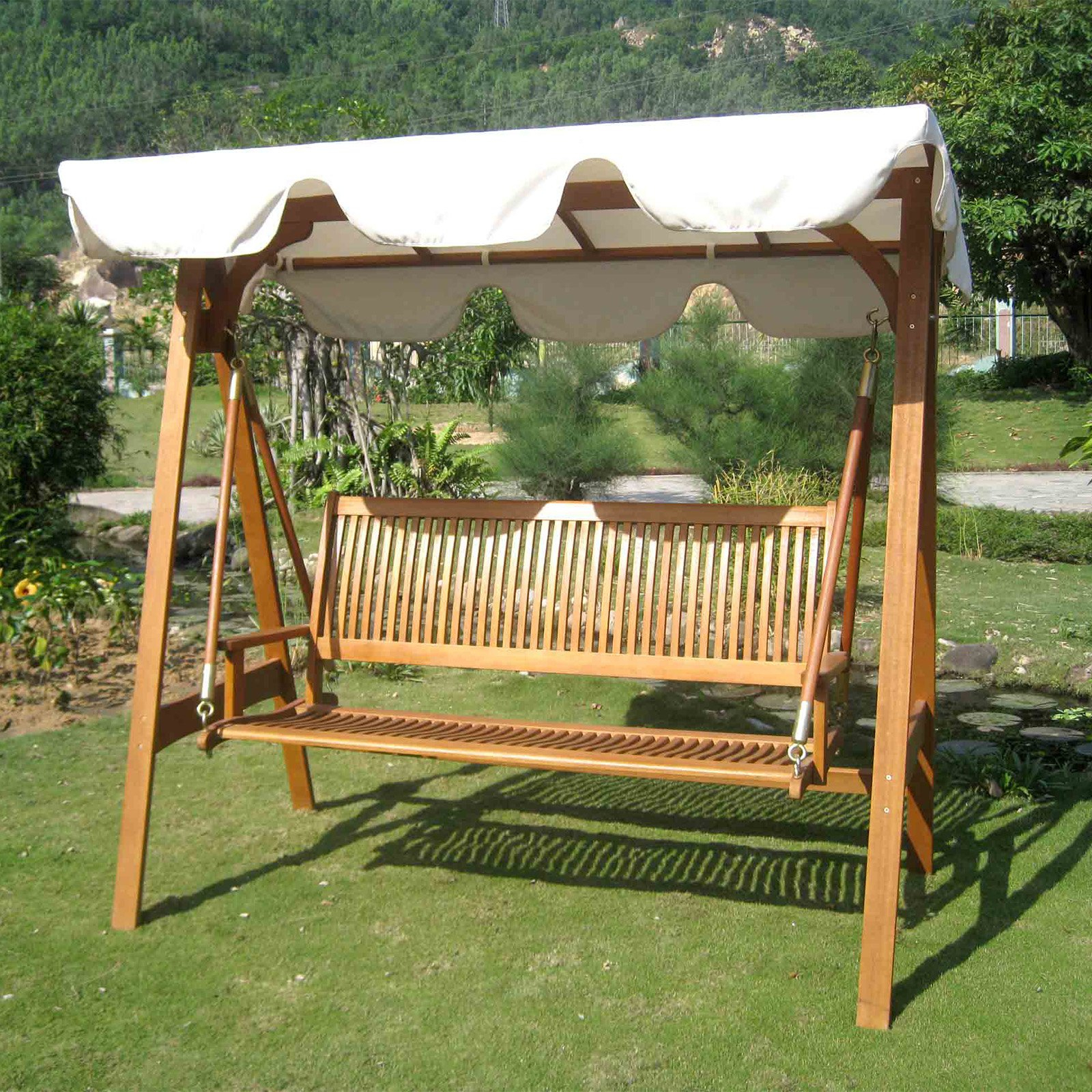 Hammock Patio Backyard Stand – Recognizealeader Regarding Outdoor Canopy Hammock Porch Swings With Stand (View 8 of 25)
