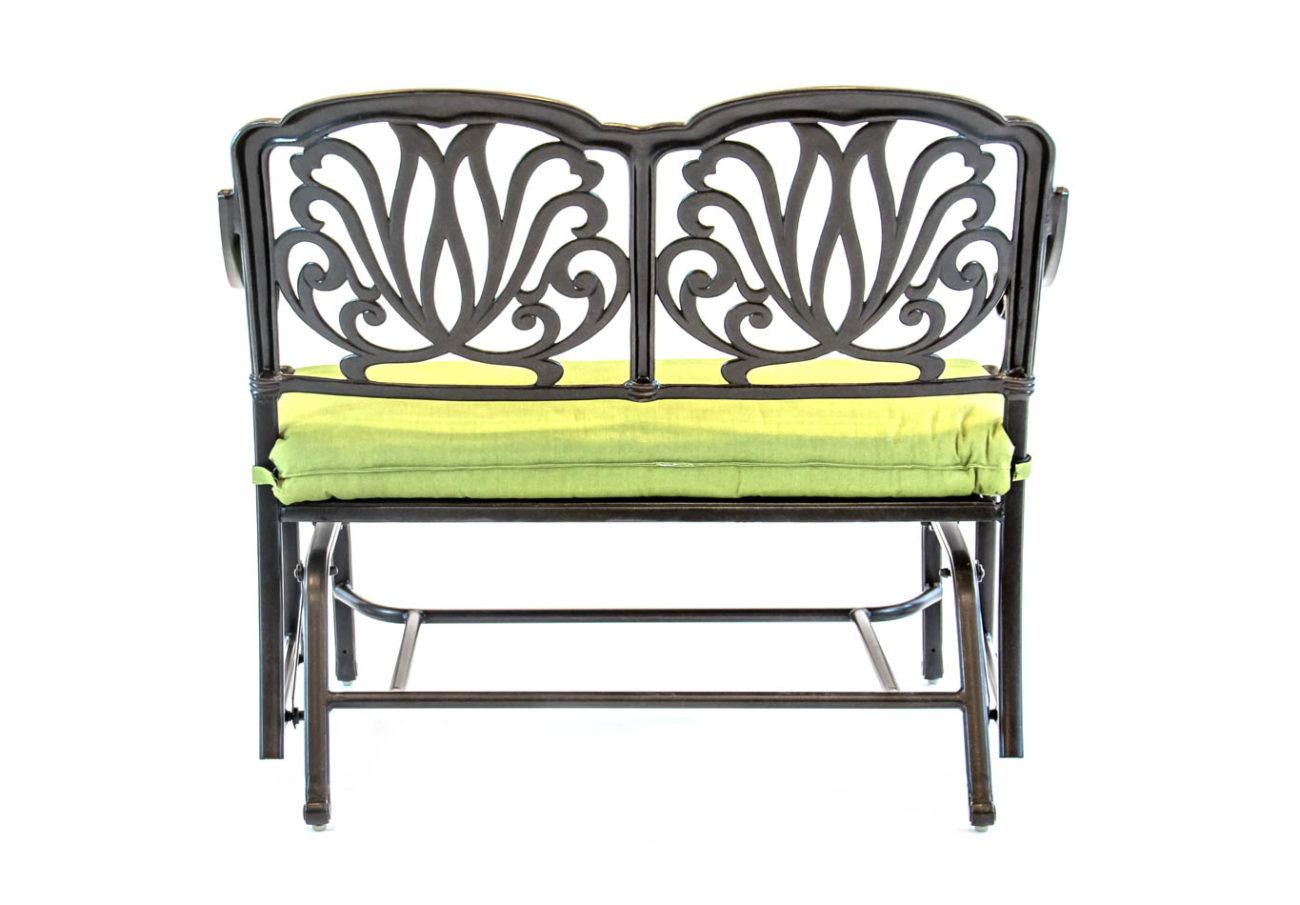 Hanamint – Biscayne – Aluminum – Glider Cushion Bench In Aluminum Glider Benches With Cushion (View 10 of 25)