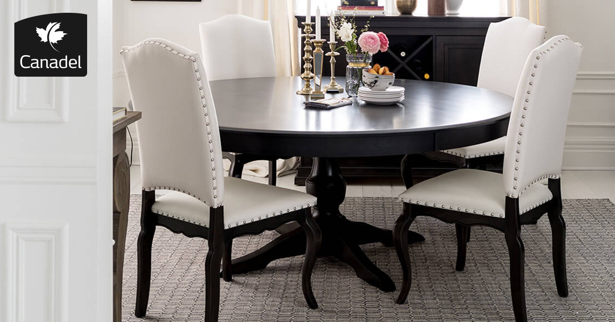 Handcrafted In North America – Kitchen And Dining Room – Canadel Pertaining To Distressed Grey Finish Wood Classic Design Dining Tables (Image 12 of 25)