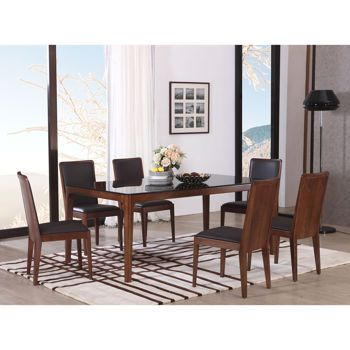 Handel 7 Piece Dining Set | Dining Table, 7 Piece Dining Set Throughout Atwood Transitional Square Dining Tables (View 13 of 25)