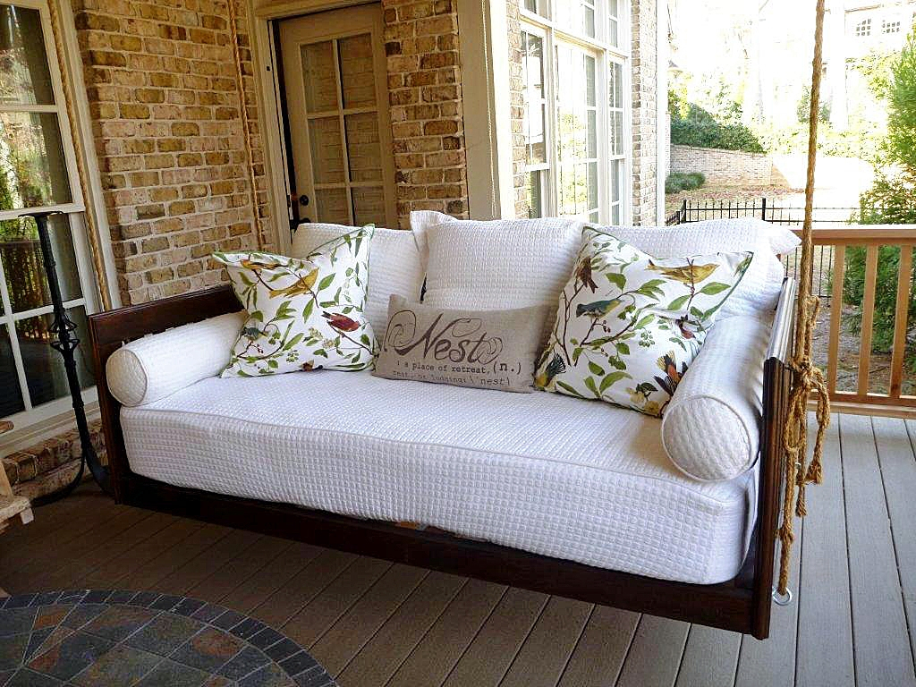 Hanging Daybed Porch Swing Inside Day Bed Porch Swings (Image 12 of 25)