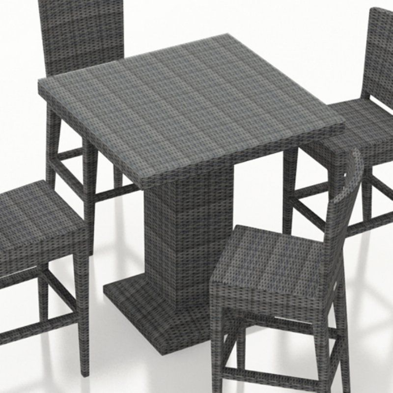 Harmonia Living District Resin Wicker Square Bar Height Inside Patio Square Bar Dining Tables (View 13 of 25)