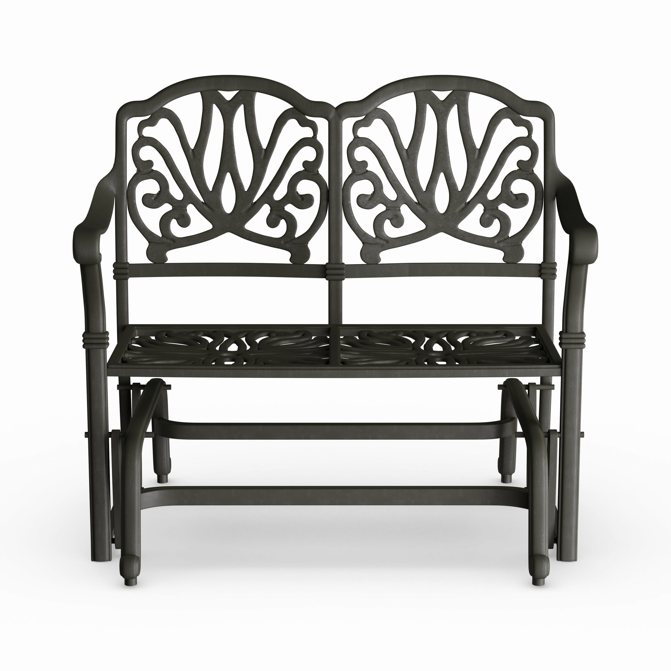 Havenside Home Avalon Cast Aluminum Glider Bench With Seat Cushion Pertaining To Aluminum Glider Benches With Cushion (View 23 of 25)