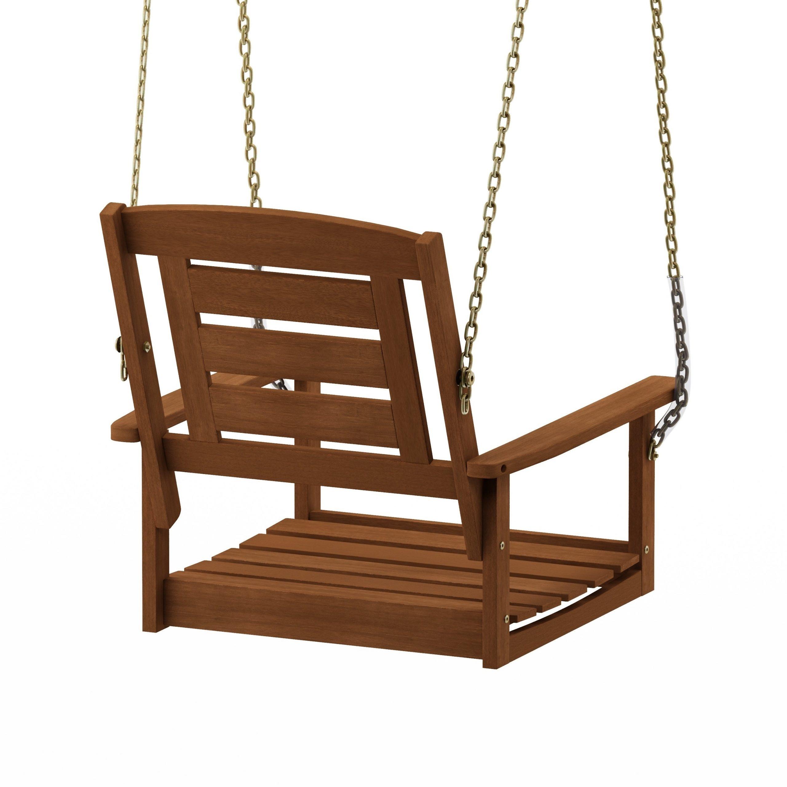Havenside Home Ormond Hardwood Single Hanging Porch Swing With Chain In Porch Swings With Chain (View 2 of 25)