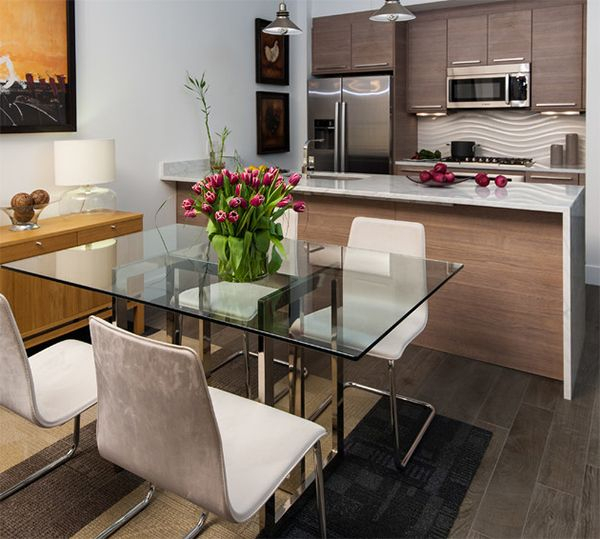 Here Are 20 Stunning Condo Dining Areas To Inspire You Within Glass Top Condo Dining Tables (View 4 of 25)