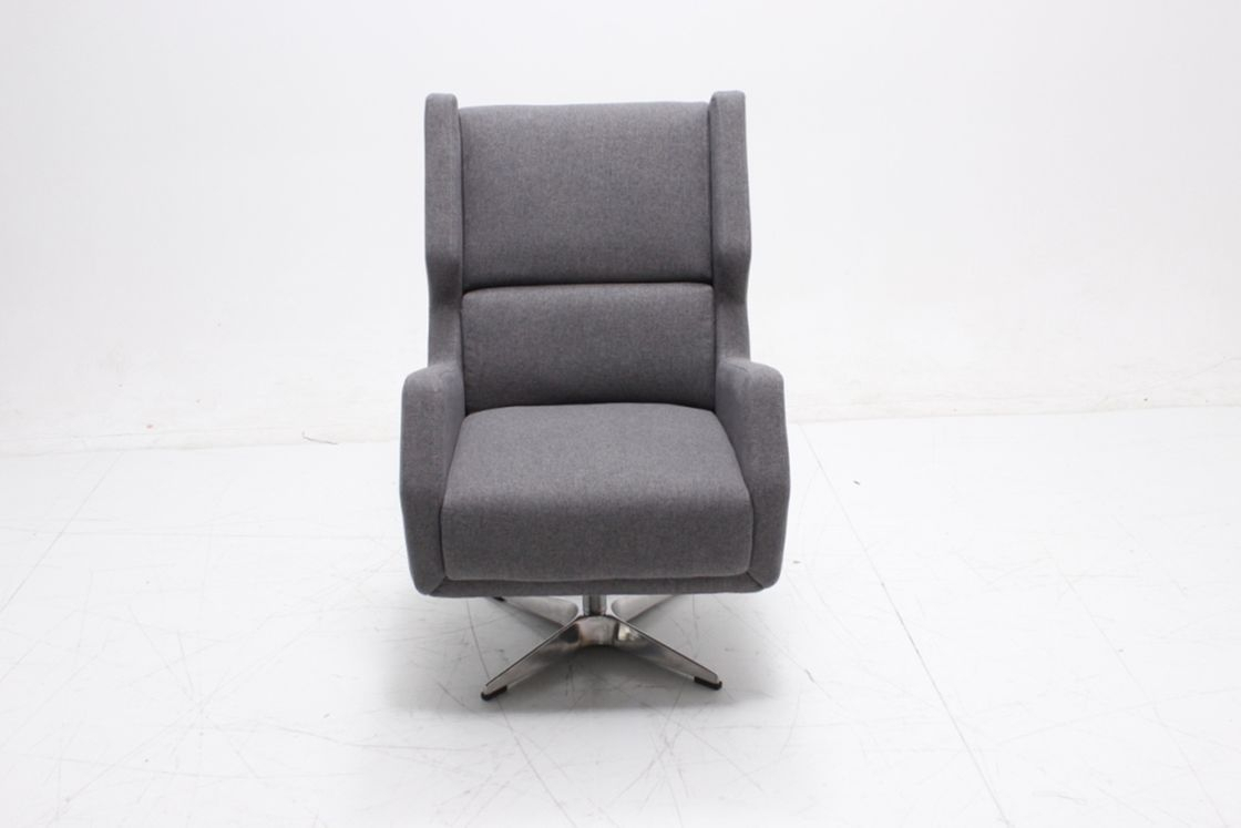 High Back Swivel Accent Chair Smooth Fluid Motion With Armrest Within Woven High Back Swivel Chairs (Image 10 of 25)