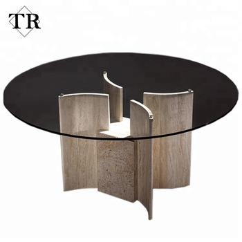 High Quality Marble Base Round Dining Table With Glass Top – Buy Round Dining Table Marble Base,dining Table With Glass Top,high Quality Round Dining Intended For Round Dining Tables With Glass Top (View 10 of 25)
