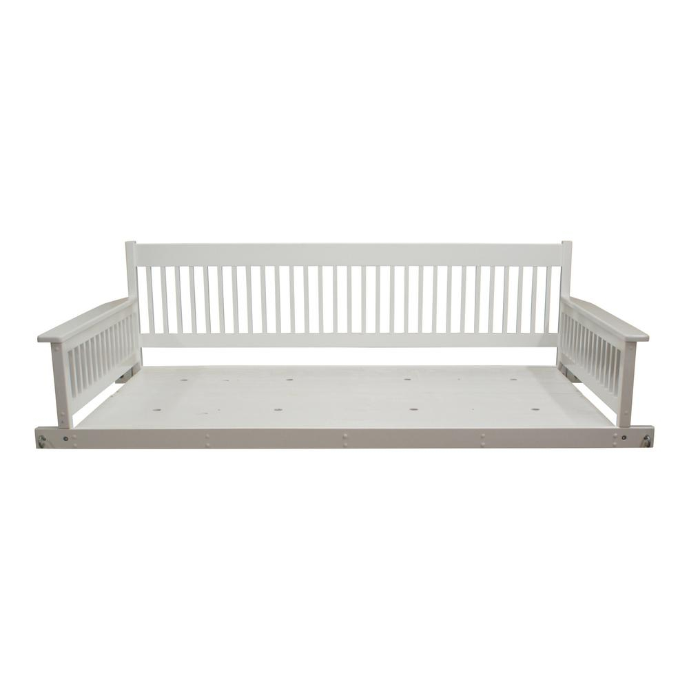 Hinkle Chair Company Plantation 2 Person Daybed White Wooden Intended For 2 Person Black Wood Outdoor Swings (View 13 of 25)
