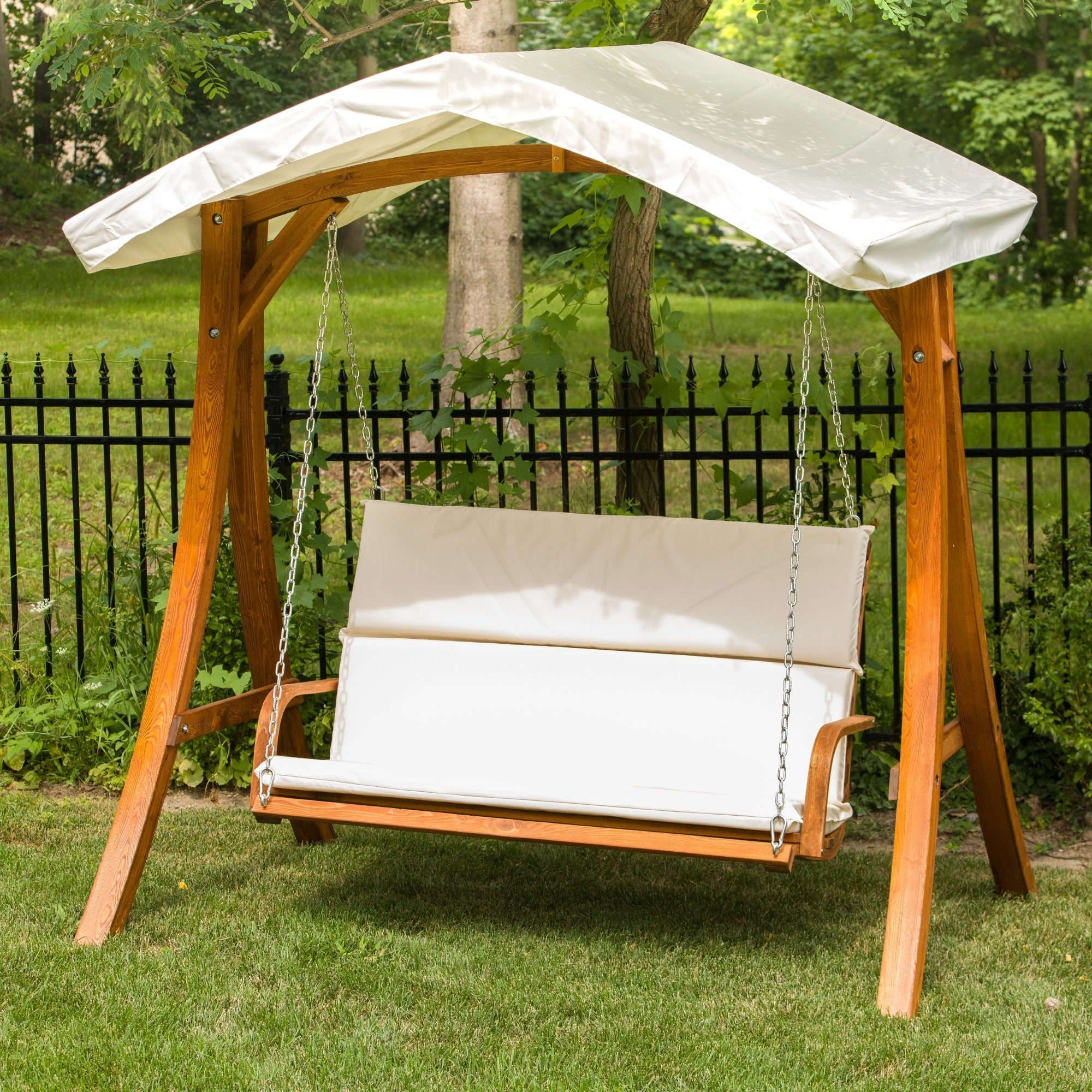 Home & Garden Store Hammocks, Swing Chairs & Accessories With Regard To 3 Seater Swings With Frame And Canopy (Image 15 of 25)