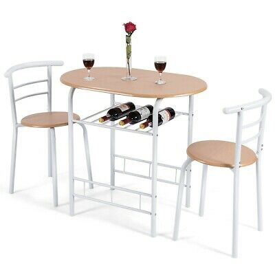 Home Kitchen 3 Pcs Bistro Pub Dining Table 2 Chairs Set | Ebay In 3 Pieces Dining Tables And Chair Set (View 4 of 25)