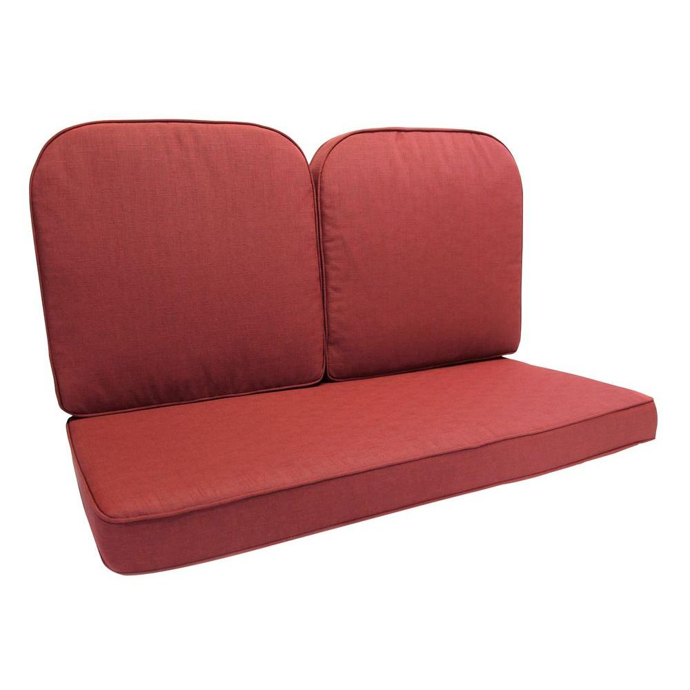 Homecrest Holly Hill Cushion Aluminum Arm Glider Sofa Inside Outdoor Loveseat Gliders With Cushion (View 14 of 25)