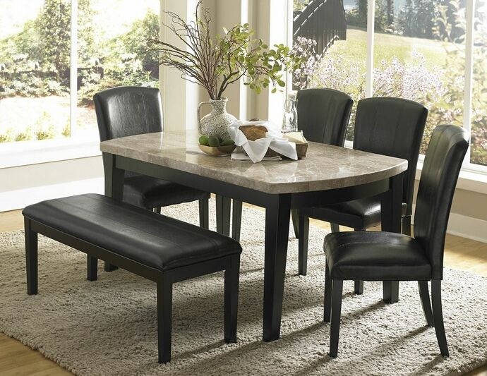 Homelegance 5070 64 6Pc 6 Pc Cristo Espresso Finish Wood And Within Transitional 6 Seating Casual Dining Tables (Image 15 of 25)