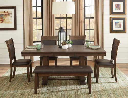 Homelegance Wieland Collection | Wieland Casual Dining Set Throughout Transitional 6 Seating Casual Dining Tables (View 21 of 25)