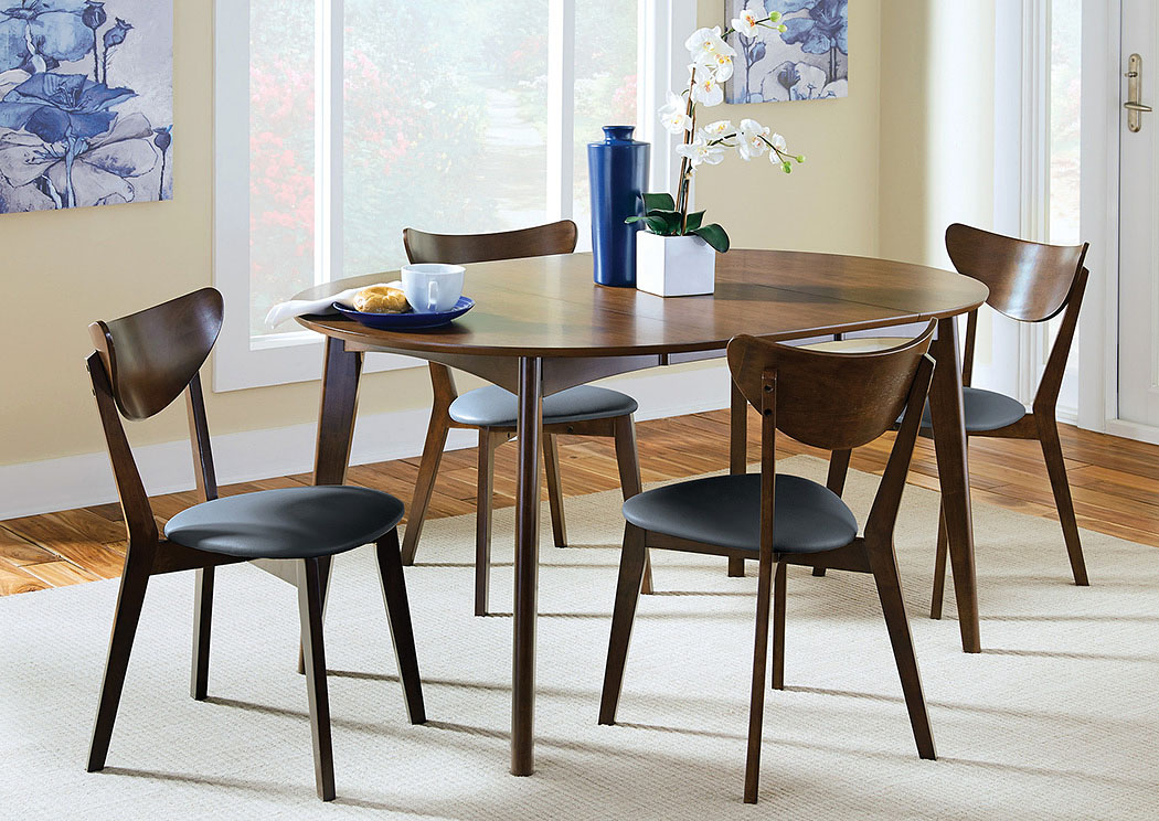 Hot Buys Furniture | Snellville, Ga Walnut Dining Table W/6 Regarding Coaster Contemporary 6 Seating Rectangular Casual Dining Tables (View 17 of 25)