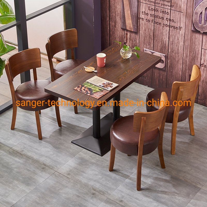 [Hot Item] Cheap American Country Retro Wood Furniture, Wrought Iron Table In The Restaurant The Family Dinner Table Dinette Combination Dining Tables Pertaining To Iron Wood Dining Tables (View 13 of 25)
