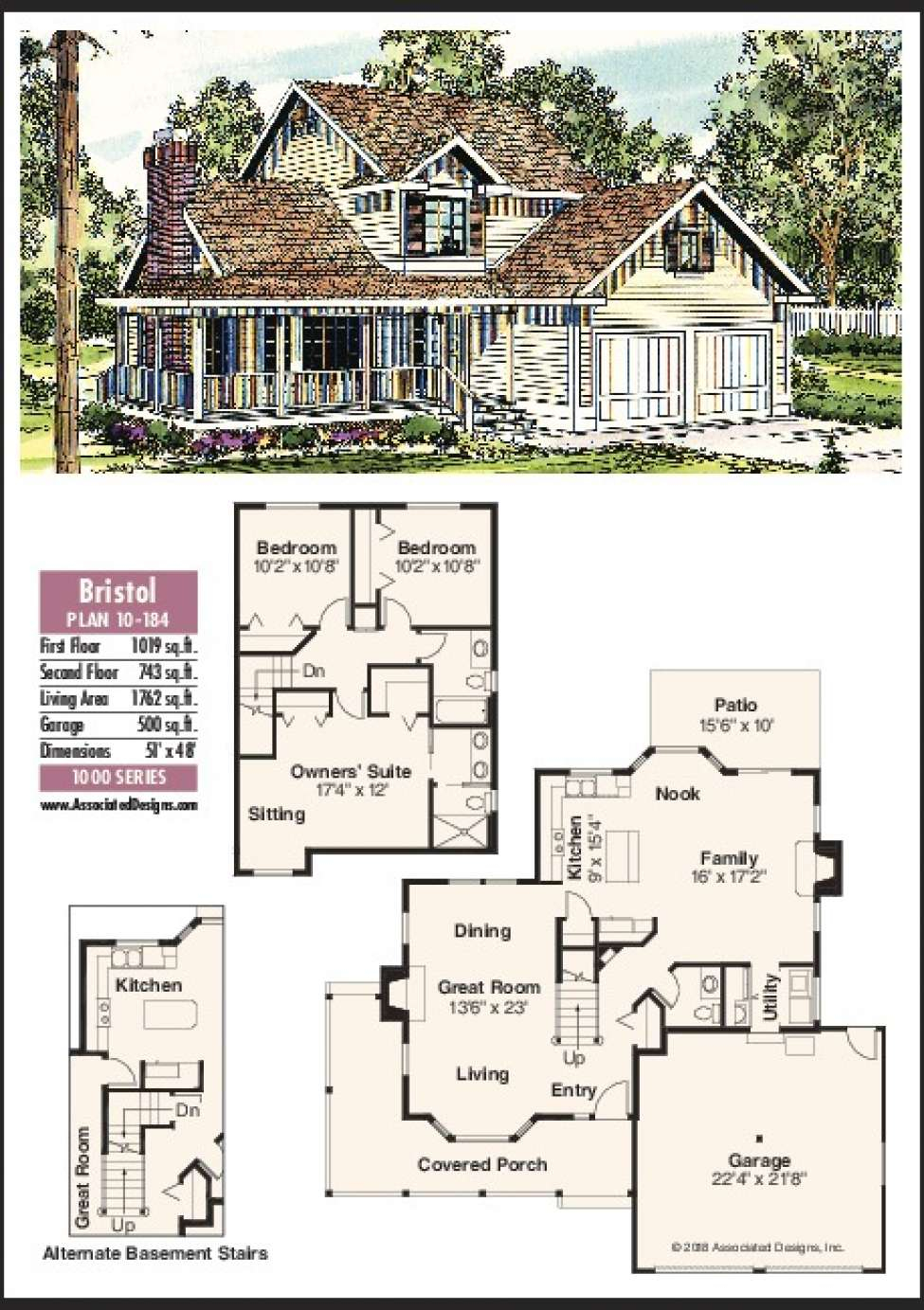 House Plans: The Bristol With Bristol Porch Swings (Image 20 of 25)