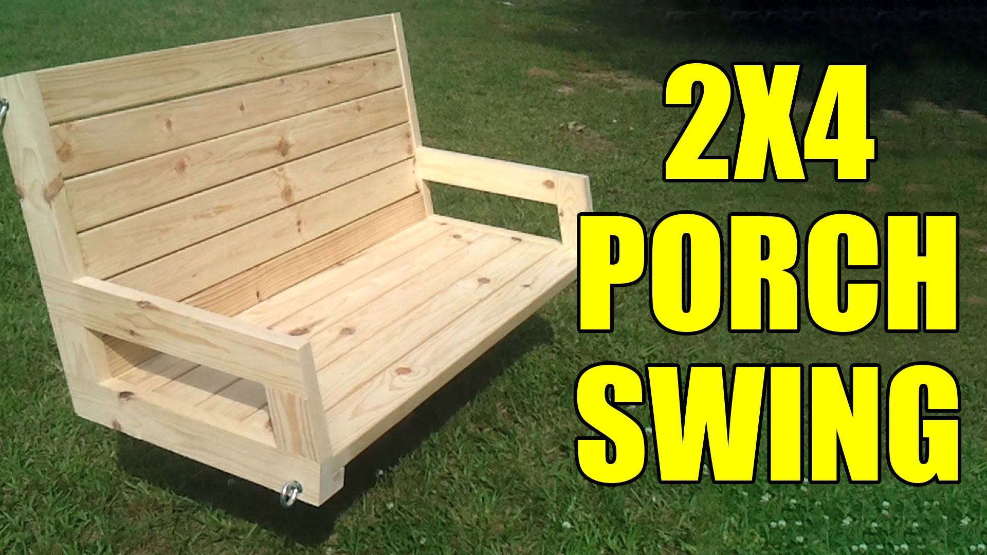 How To Build A 2×4 Porch Swing | Jays Custom Creations Intended For Daybed Porch Swings With Stand (View 18 of 25)