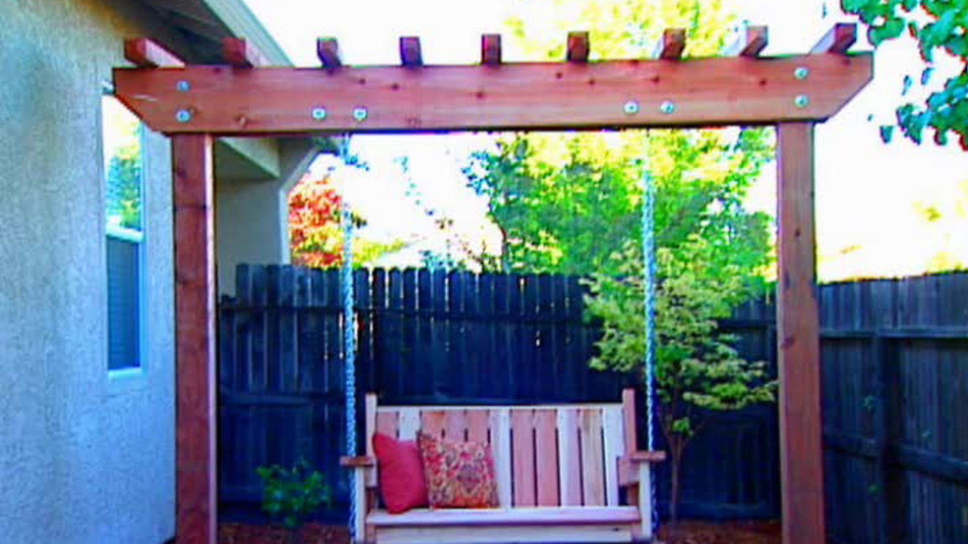 How To Build A Freestanding Arbor Swing | How Tos | Diy Throughout Pergola Porch Swings With Stand (View 25 of 26)