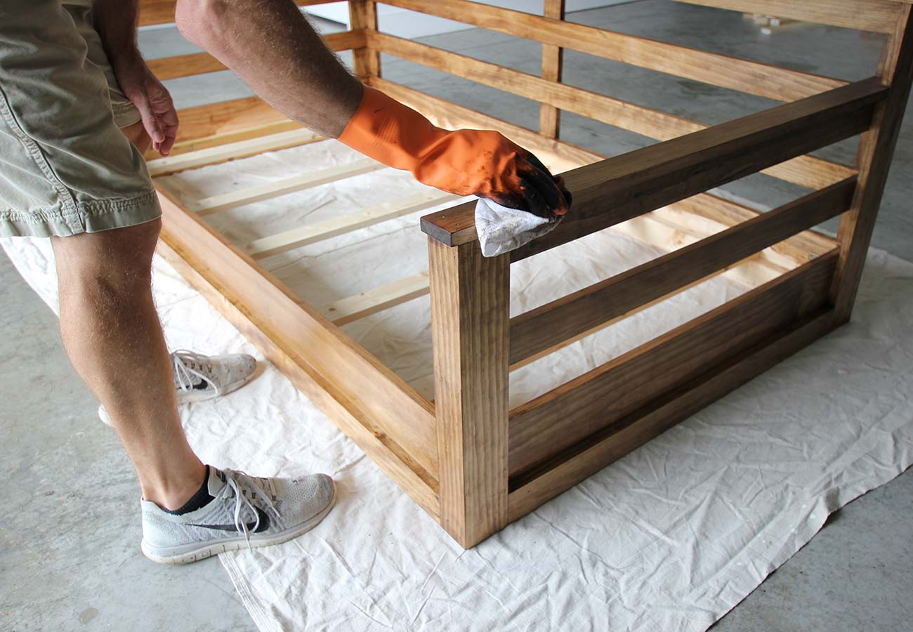 How To Build A Porch Swing Bed – Plank And Pillow Regarding Hanging Daybed Rope Porch Swings (Image 16 of 25)