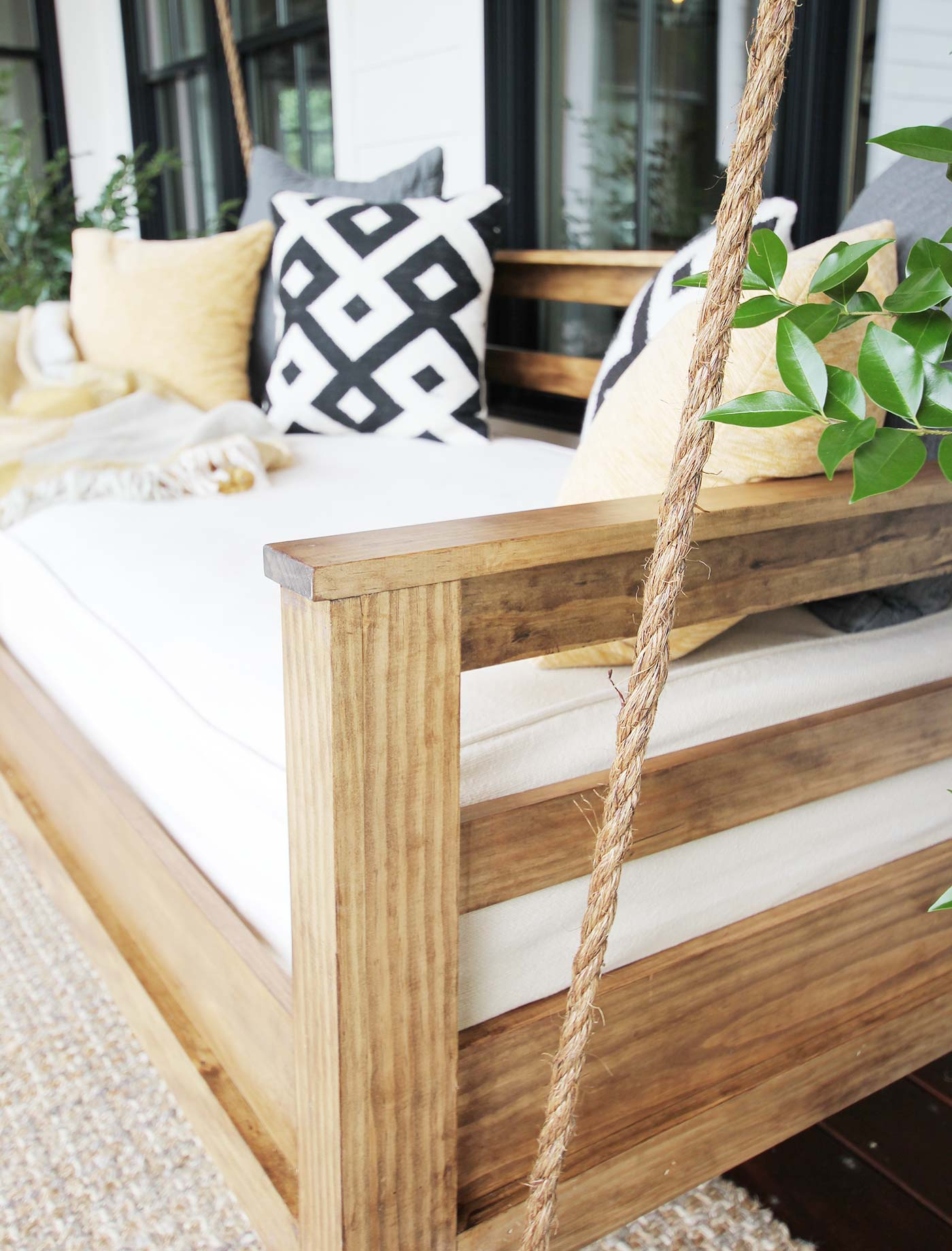 How To Build A Porch Swing Bed – Plank And Pillow With Day Bed Porch Swings (View 13 of 25)