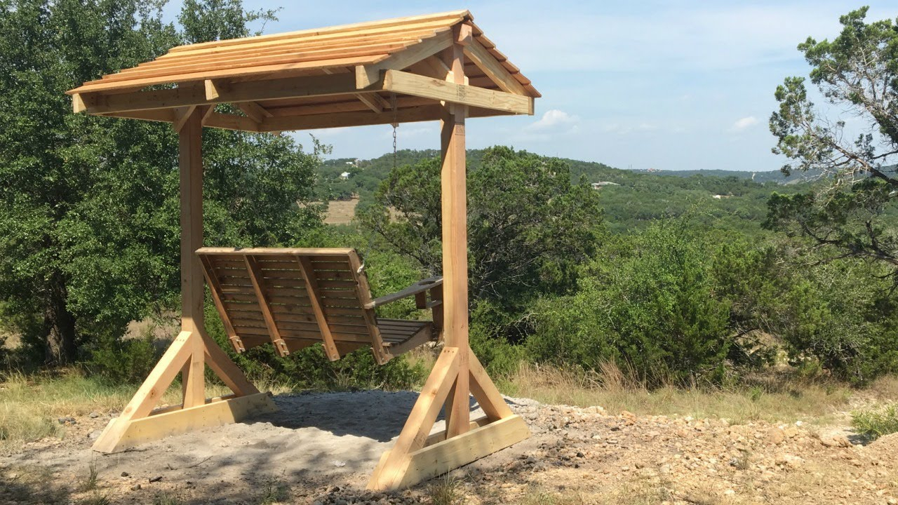 How To Build A Porch Swing Frame Throughout Patio Loveseat Canopy Hammock Porch Swings With Stand (Image 16 of 25)