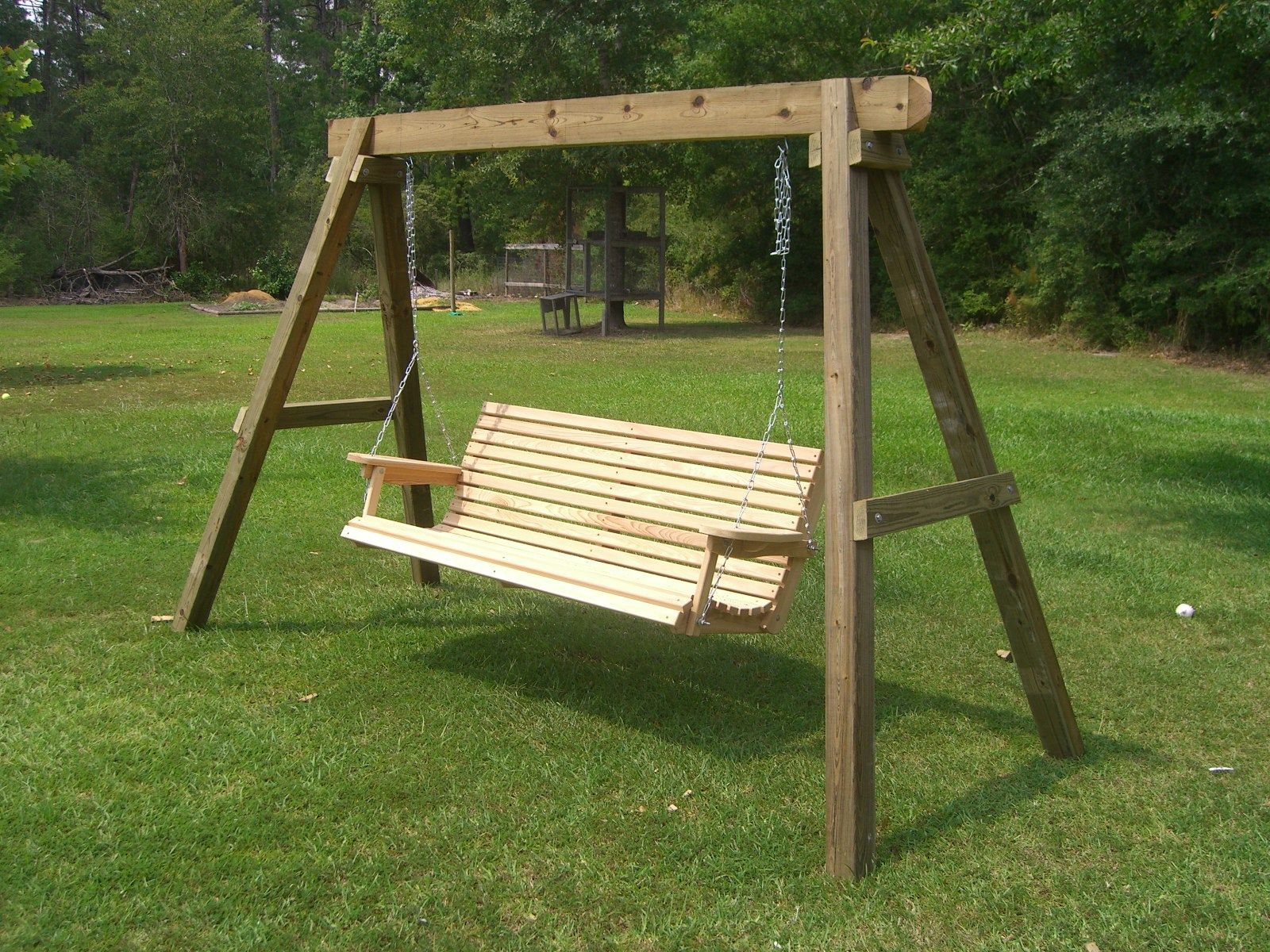How To Build Swing Stand | Porch Swing Frame, Porch Swing With Patio Porch Swings With Stand (View 12 of 25)