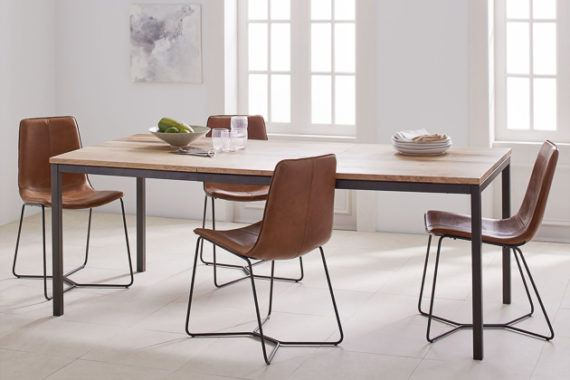 How To Buy A Dining Or Kitchen Table And Ones We Like For Intended For Acacia Wood Top Dining Tables With Iron Legs On Raw Metal (Image 12 of 25)